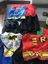 4 Batman - Robin Child Costume Cape Black Satin Kids Superhero Accessories