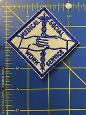 Vintage Medical Social Work Service Patch Workers Hospital Almoners Lady Support