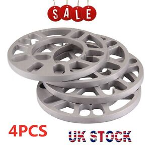 4 X 10MM UNIVERSAL SET KIT ALLOY WHEEL SPACERS SHIMS SPACER 4 & 5 STUD FIT
