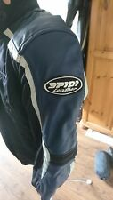 ladies leather and textile spidi motorcycle jacket size small, euro 40, UK 8-10