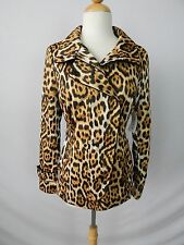 CARLISLE LEOPARD ANIMAL PRINT POLY TECHNO LIGHTWEIGHT JACKET size 0 NEW $565