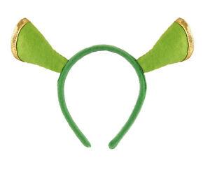 Green Ogre Fancy Dress Headband Shrek Ears Aliceband Party Costume Accessory New