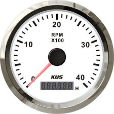 85mm White KUS Tachometer 0-4000rpm for gasoline engine CMHB-WS-4KL (SV-KY07105)
