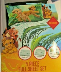 Disney Lion King Full Sheets 4 Pc Sheet Set    NEW