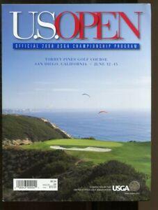 2008 PGA US Open Championship Program Torrey Pines June 12-15 Tiger Woods Champ