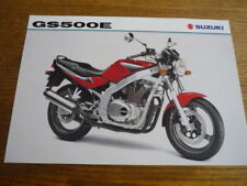 SUZUKI GS 500E MOTORBIKE BROCHURE 1998/99 - POST FREE (UK)