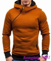 Fashion Men Zip Pullover Hoodies Cotton Blend New Casual Short Teenager Coat Hot