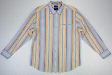 New Tommy Bahama Pacific Sands Mens L Large Blue Orange Stripe Long Sleeve Shirt