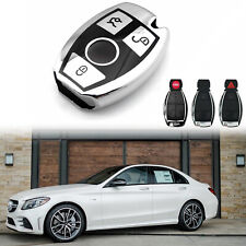 CLS E Class AMG Key Shell IYZ3312 Replacement For Keyless Entry Remote Key Fob Shell With Button Pad Battery Clip Fit for Mercedes Benz C Class G Class Slk Class CLK