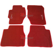 Promotion!!! Fit 98-02 Honda Accord 6th Gen Red Nylon Floor Mats Carpets Type R