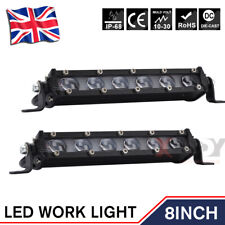 2X LED Work Lights 8 Inch 60W 12V Driving Lamp Spot Beam Fit Car SUV Truck Boat