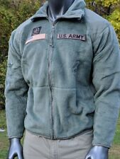 US Army Polartec Cold Weather Foliage Green Fleece Military Shirt Jacket S M L