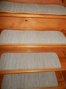 "15 STEP 9"" X 30"" + Landing 30' x 30"" Stair Treads Staircase  WOVEN WOOL CARPET."