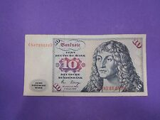 GERMANY VINTAGE ZEHN 10 DEUTSCHE MARK BANKNOTE BUNDESBANK 1980 PAPER MONEY