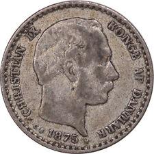 1875-H DENMARK 10 ORE KM #795.1 - HIGH GRADE EXAMPLE!