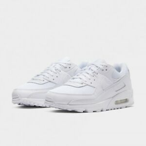 Nike Air Max 90 Triple White/Wolf Grey Shoes Men's 9.5 CN8490-100 New