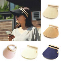 Women Empty Top Straw Hats Lady Bicycle Sun Protection Visor Beach Cap Sun Hats