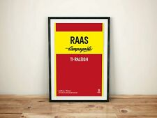 Jan Raas TI Raleigh - Vintage cycling team print