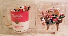 🔥Lot 2 Campbell'S Soup Christmas Ornament Holiday 1999 Mug+94 Bernard 🔥New