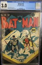 BATMAN #10 CGC 3.0 1942 10TH BATMAN ISSUE!!  CATWOMAN IN NEW COSTUME