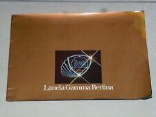 LANCIA GAMMA BERLINA 1976 - BROCHURE LIBRETTO PUBBLICITARIO OTTIME CONDIZIONI