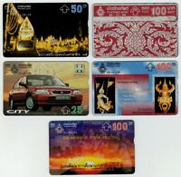1991-97 Thai Pattern Golden Jubilee Royal Barge  Honda City 5 Phonecard Used Lot