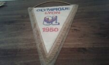 GAGLIARDETTO PENNANT VINTAGE OLYMPIQUE LYON 1950 FOOTBALL FRANCE