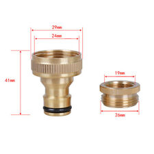 New Brass Garden Water Lawn Hose pipe fitting Tap adaptor connector 18mm 3/4""