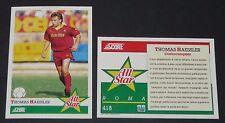 418 HÄSSLER DEUTSCHLAND AS ROMA FOOTBALL CARD 92 1991-1992 CALCIO ITALIA SERIE A