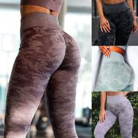 Women Seamless Yoga Pants High Waisted Hip Push UP Fitness Sports Gym Leggings O