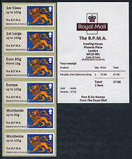 BPMA British MUSEO POSTALE TIPO III ARALDICA LEONE corruzione Set / 6 primo giorno POST & GO