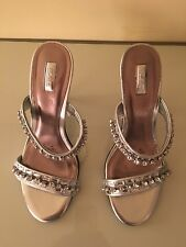 Star by Julien Macdonald silver jewelled sandals mules size 7