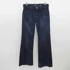 7 For All Mankind Ginger Flare Jeans High Rise Womens W28 L33 Blue Stretch Denim