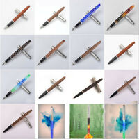 Jinhao 51A Acrylic/Wood Fountain Pen Hooded Iridium Extra Fine 0.38/0.5mm Nibs