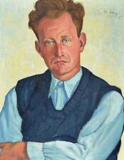 Hanns Hagenauer 1896-1975 Oberammergau / Gemälde Hellmuth Mueller-Leutert 1935
