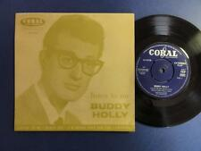 BUDDY HOLLY  LISTEN TO ME coral -1C p/s EP EX-/VG+