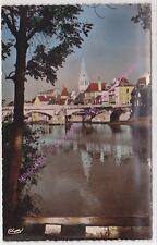 CPSM 36200 ARGENTON sur CREUSE Le vieux pont sur la Creuse église Saint Sauveur