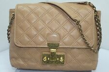 New Marc Jacobs The Single Bag Handbag Beige Leather Shoulder Purse