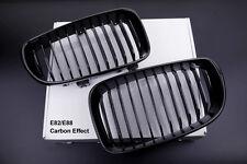 BMW LCI E81 E87 E82 E88 5D 135 Coupe Convertible CARBON FIBRE Look Kidney Grills