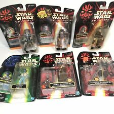 Star Wars Episode 1 lot Of 6 Figures And accessories
