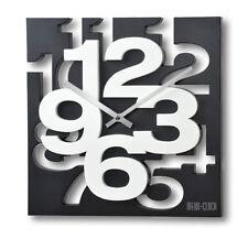 Wanduhr 3 D Design 32,5 cm Modern 1106 weiß schwarz