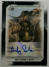 2019 TOPPS STAR WARS SKYWALKER SAGA ANDY SECOMBE AS WATTO AUTOGRAPH CARD