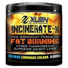 Xcel Sports Nutrition: Incinerate-X 30sv Blue Lemonade Flavor. STRONG fat loss