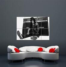 El guitarrista Slash Guns N Roses Amp fresco de impresión arte cartel de gigante WA423
