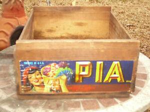 Vintage Pia Wood Fruit Crate - Lamanuzzi & Pantaleo