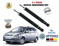 FOR TOYOTA AVENSIS VERSO 2.0 2.4 + D4D 2001-2009 NEW 2 x REAR SHOCK ABSORBER SET
