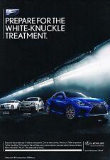 2015 Lexus F Sport RCF GSF ISF Original Advertisement Print Art Car Ad J548