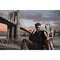 JAMES DEAN & MARILYN POSTER- UNDER BROOKLYN BRIDGE CONSANI - 91 x 61 cm 36 x 24""