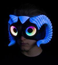 Horned FAUNO LED INFINITY Mirror Mezza Maschera, Maschera LED, Burning Man Maschera, Maschera Rave