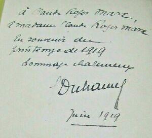 GEORGES DUHAMEL VIE DES MARTYRS 1917 ENVOI Signé à ROGER-MARX GUERRE 14-18